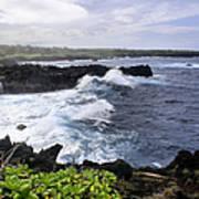 Waianapanapa Pailoa Bay Hana Maui Hawaii Poster