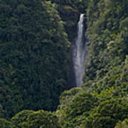 Wailua Stream Waiokane Falls View From Wailua Maui Hawaii Poster