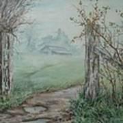 Waikato Fog. Poster