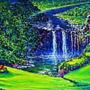 Waimea Falls Lv Poster by Joseph   Ruff