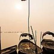 Waiting Boats Poster