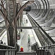 Waiting - Hollywood Subway Station. Poster