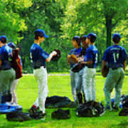 Waiting To Go To Bat Poster by Susan Savad