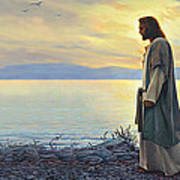 Walk With Me Poster by Greg Olsen