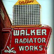 Walker Radiator Works Sign Poster
