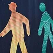 Walking Man Symbol Poster