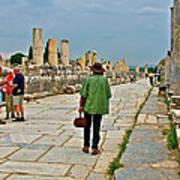 Walkway To Harbor In Ephesus-turkey Poster