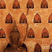 Wall Of Buddhas Poster