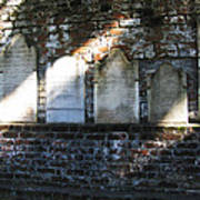 Wall Of Tombstones Knocked Down During Civil War Poster