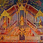 Wall Painting 2 At Wat Suthat In Bangkok-thailand Poster