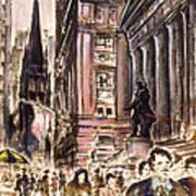 New York Wall Street - Fine Art Poster