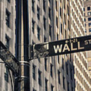 Wall Street Sign Poster
