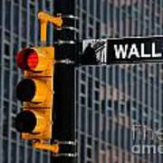 Wall Street Traffic Light New York Poster