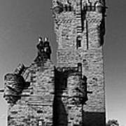 Wallace Monument Monochrome Poster