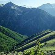 1m5903-wallowa Mountains And Valley Of The East Fork Poster