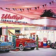 Wallys Service Station Poster