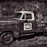 Wally's Towing Bw Poster