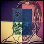 Walt Whitman In Color Poster by Nickolas Kossup