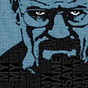 Walter White Heisenberg Breaking Bad Poster