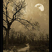 Waning Winter Moon Poster