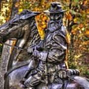War Horses - Lieutenant General James Longstreet Commanding First Corps Gettysburg Poster