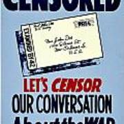 War Poster - Ww2 - Censored Poster