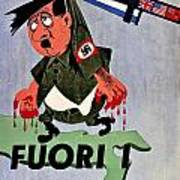 War Poster - Ww2 - Out With The Fuhrer Poster