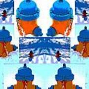 Warhol Firehydrants Poster