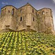 Warkworth Castle In The Sky Poster