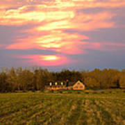 Warm Spring Sunset Poster