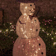 Warm Weather Snowman Poster