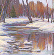 Warm Winter Reflections Poster by Billie Colson