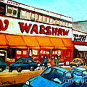 Warshaws Paintings Famous Fruit Store Main Street Montreal Art Prints Originals Commissions Cspandau Poster
