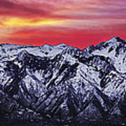 Wasatch Sunrise 3x1 Poster by Chad Dutson