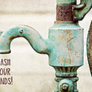 Wash Your Hands Child's Bathroom Decor Poster