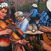 Washboard Lissa On Fiddle Poster