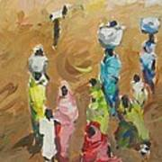 Washing Day Poster by Negoud Dahab