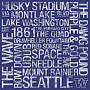 Washington College Colors Subway Art Poster by Replay Photos