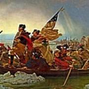 Washington Crossing The Delaware Emanuel Leutze 1851 Poster
