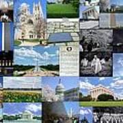 Washington D. C. Collage  Poster