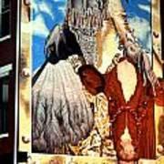 Washington In Drag Mural In Washinton Park Cincinnati Poster