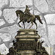 Washington Monument At Eakins Oval Poster