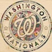 Washington Nationals Vintage Art Poster