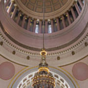 Washington State Capitol Building Chandelier Closeup Poster