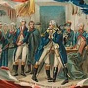 Washington Taking Leave Of His Officers Poster