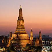 Wat Arun At Sunset - Bangkok Poster