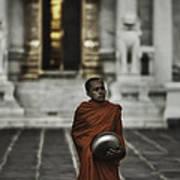 Wat Bencha Monk Poster by David Longstreath