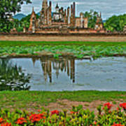Wat Mahathat In13th Century Sukhothai Historical Park-thailand Poster