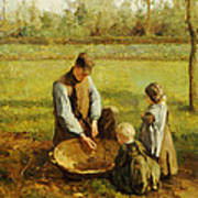 Watching Father Work Poster