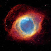 Watching - Helix Nebula Poster by Jennifer Rondinelli Reilly - Fine Art Photography